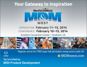 UPDATED; MD&M West 2014 Banner